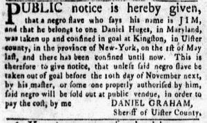 Nov 5 1770 - New-York Gazette and Weekly Mercury Supplement Slavery 2