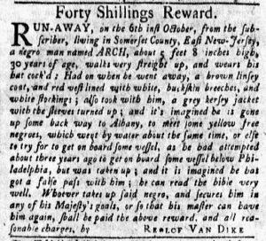 Nov 5 1770 - New-York Gazette and Weekly Mercury Supplement Slavery 4