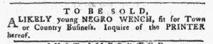 Nov 5 1770 - Pennsylvania Chronicle Slavery 1