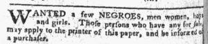 Nov 5 1770 - Pennsylvania Chronicle Slavery 2