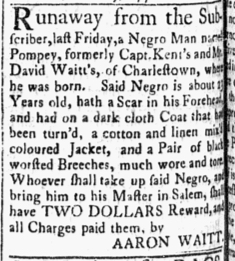Nov 6 1770 - Essex Gazette Slavery 2