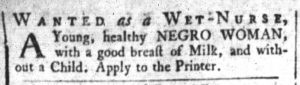 Nov 6 1770 - South-Carolina and American General Gazette Slavery 3