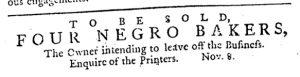 Nov 8 1770 - Pennsylvania Journal Slavery 1