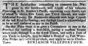 Nov 8 1770 - South-Carolina Gazette Slavery 3
