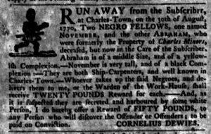 Nov 8 1770 - South-Carolina Gazette Slavery 4