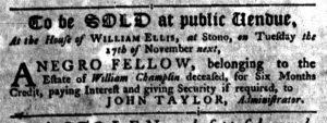 Nov 8 1770 - South-Carolina Gazette Slavery 6