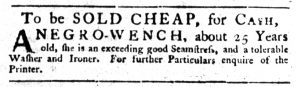 Nov 8 1770 - South-Carolina Gazette Slavery 8