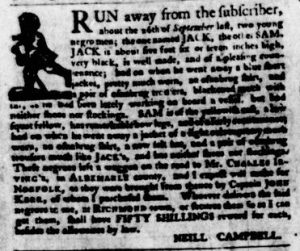 Nov 8 1770 - Virginia Gazette Purdie & Dixon Slavery 11