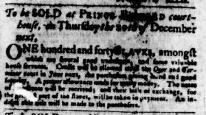 Nov 8 1770 - Virginia Gazette Purdie & Dixon Slavery 2