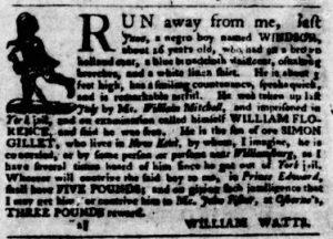 Nov 8 1770 - Virginia Gazette Purdie & Dixon Slavery 4