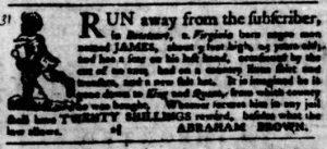 Nov 8 1770 - Virginia Gazette Purdie & Dixon Slavery 5