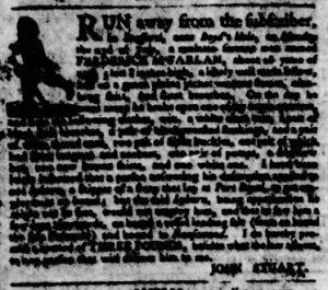 Nov 8 1770 - Virginia Gazette Purdie & Dixon Slavery 7