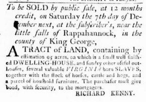 Nov 8 1770 - Virginia Gazette Rind Slavery 1