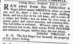 Nov 8 1770 - Virginia Gazette Rind Slavery 11
