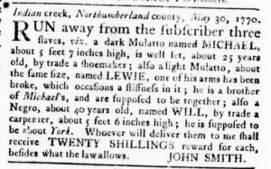 Nov 8 1770 - Virginia Gazette Rind Slavery 13