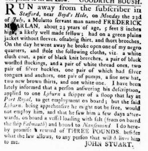 Nov 8 1770 - Virginia Gazette Rind Slavery 2