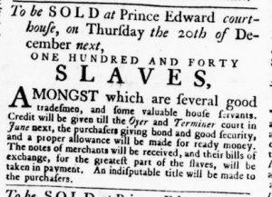 Nov 8 1770 - Virginia Gazette Rind Slavery 3