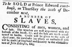 Nov 8 1770 - Virginia Gazette Rind Slavery 4