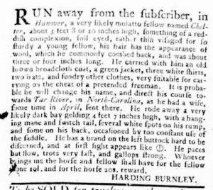 Nov 8 1770 - Virginia Gazette Rind Slavery 7