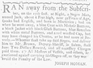 Oct 18 1770 - Massachusetts Gazette and Boston Weekly News-Letter Supplement Slavery 3