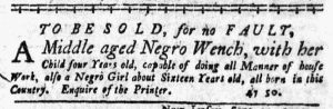 Oct 18 1770 - New-York Journal Slavery 1