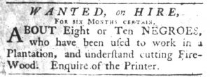 Oct 18 1770 - South-Carolina Gazette Slavery 10
