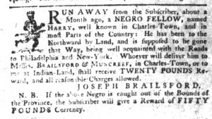 Oct 18 1770 - South-Carolina Gazette Slavery 6