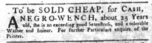 Oct 18 1770 - South-Carolina Gazette Slavery 7