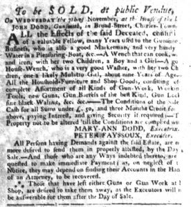 Oct 18 1770 - South-Carolina Gazette Slavery 8