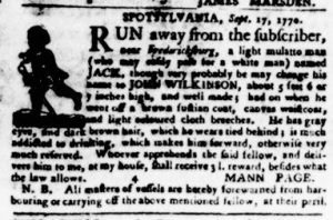 Oct 18 1770 - Virginia Gazette Purdie & Dixon Slavery 3