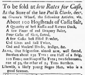 Oct 22 1770 - Boston Evening-Post Slavery 2