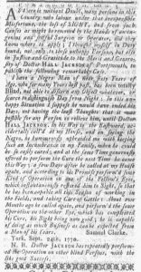 Oct 22 1770 - Boston-Gazette Slavery 1