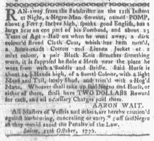 Oct 22 1770 - Boston-Gazette Slavery 2