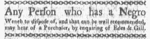 Oct 22 1770 - Boston-Gazette Slavery 3
