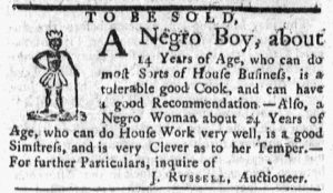 Oct 22 1770 - Massachusetts Gazette and Boston Post-Boy Slavery 2