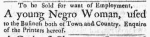 Oct 22 1770 - Massachusetts Gazette and Boston Post-Boy Slavery 3