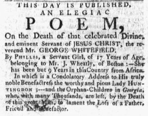 Oct 22 1770 - Massachusetts Gazette and Boston Post-Boy Slavery 5