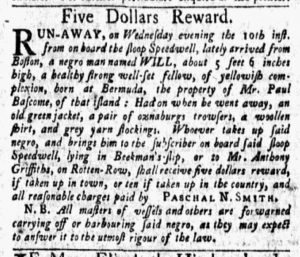 Oct 22 1770 - New-York Gazette and Weekly Mercury Slavery 4