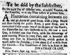 Oct 22 1770 - New-York Gazette and Weekly Mercury Slavery 6a