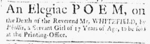 Oct 23 1770 - Essex Gazette Slavery 2