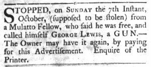 Oct 23 1770 - South-Carolina Gazette and Country Journal Slavery 11