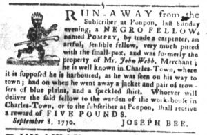 Oct 23 1770 - South-Carolina Gazette and Country Journal Slavery 7