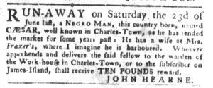 Oct 23 1770 - South-Carolina Gazette and Country Journal Slavery 8