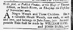 Oct 25 1770 - Maryland Gazette Slavery 2