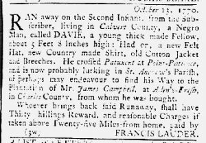 Oct 25 1770 - Maryland Gazette Slavery 4