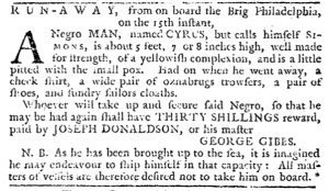 Oct 25 1770 - Pennsylvania Journal Slavery 1