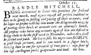 Oct 25 1770 - Pennsylvania Journal Slavery 2