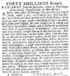 Oct 25 1770 - Pennsylvania Journal Slavery 3