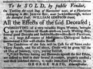 Oct 25 1770 - South-Carolina Gazette Slavery 3