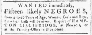 Oct 27 1770 - Providence Gazette Slavery 2